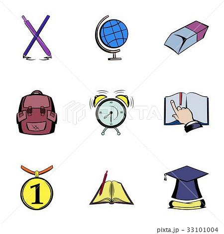 Knowledge icons set, cartoon style 33101004