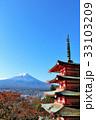 秋の富士山と歴史ある風景 33103209