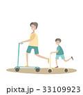 スクーター ファミリー 家庭のイラスト 33109923