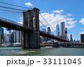 ブルックリン橋とマンハッタン 33111045