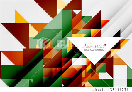 Triangle pattern design backgroundのイラスト素材 [33111251] - PIXTA