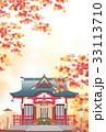 神社 秋の和の風景 33113710