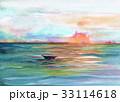 海の夕景 33114618