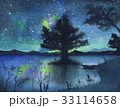 湖面に映る天の川 33114658