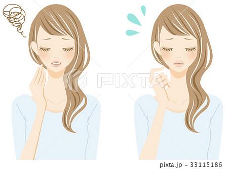 白髪 悩む女性 苦労 33115186