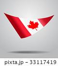 Canadian flag background. Vector illustration. 33117419