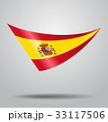 Spanish flag background. Vector illustration. 33117506