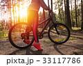 自転車 フット 足の写真 33117786