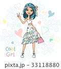 女の子 女児 女子のイラスト 33118880