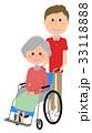 介護 介護スタッフ 高齢者のイラスト 33118888