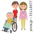 ヘルパー 介護 高齢者のイラスト 33118977