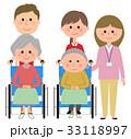 介護 介護スタッフ 高齢者のイラスト 33118997