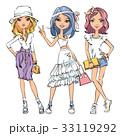 女の子 女児 女子のイラスト 33119292