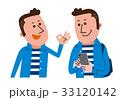 男性・OKサイン・スマートフォン 33120142
