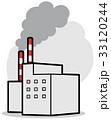 温室効果ガス 工場 煙のイラスト 33120244