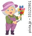 老人 フラワー 花のイラスト 33122901