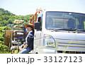 女性 水分補給 トラックの写真 33127123