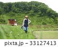 農業女子 田植え 休憩 33127413