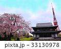 シダレザクラと東京タワー 33130978