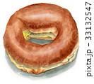 スイーツ 水彩 ドーナツのイラスト 33132547