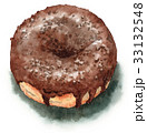 スイーツ 水彩 ドーナツのイラスト 33132548
