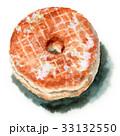 スイーツ 水彩 ドーナツのイラスト 33132550