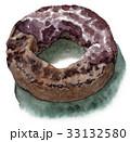 スイーツ 水彩 ドーナツのイラスト 33132580