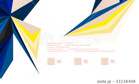 Modern triangle presentation templateのイラスト素材 [33136408] - PIXTA