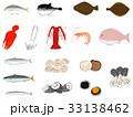 魚介類セット <魚介類のイラスト> 33138462
