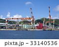 造船所 ドック クレーンの写真 33140536