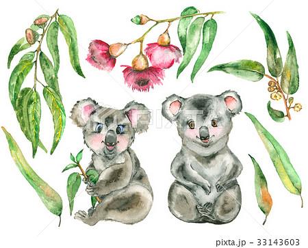 Watercolor Koala set 33143603