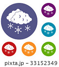 Clouds and snow icons set 33152349