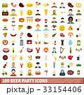 100 100 ビールのイラスト 33154406