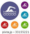 Swimmer icons set 33155221