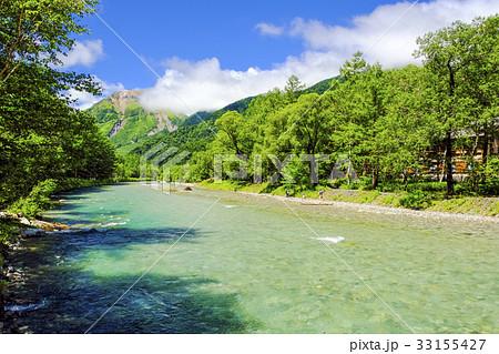 焼岳と梓川 33155427