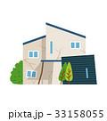 家 一軒家 劣化のイラスト 33158055