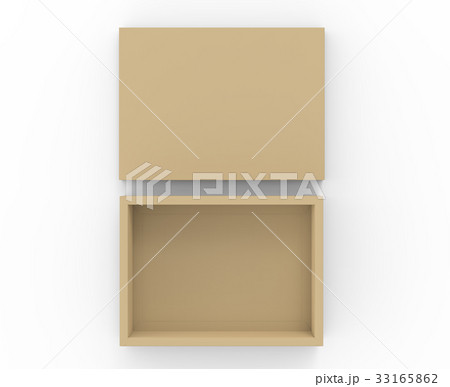 Brown cardboard box mockup 33165862