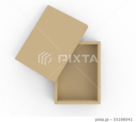 Brown cardboard box mockup 33166041