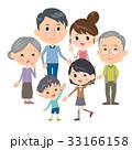 人物 家族 3世代のイラスト 33166158