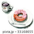 コーヒーとストロベリーファッションドーナツ 33168655
