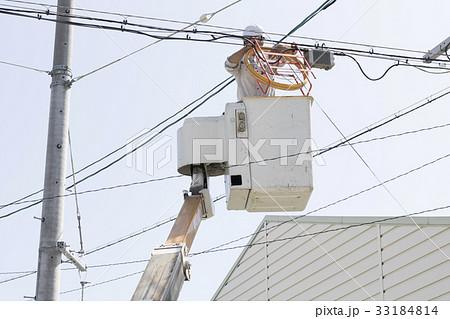 電線の工事 33184814