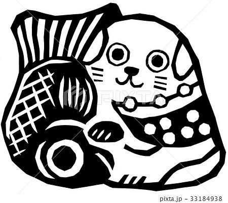 切り絵 郷土玩具 狆鯛 33184938