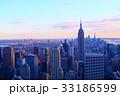 ニューヨークの街並み(夕景) 33186599