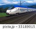 電車 列車 スピードのイラスト 33189015