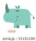 animals set - rhino 33191280