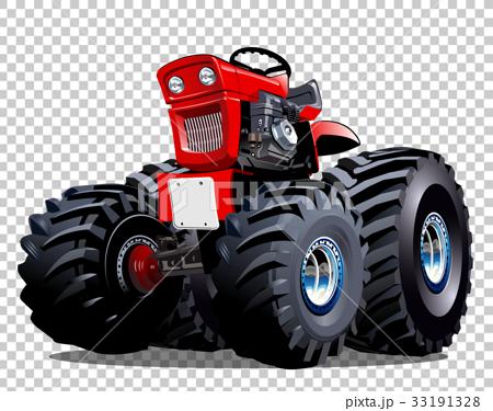 Vector Cartoon Tractor 33191328