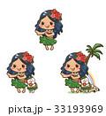 フラダンス 女性 女の子のイラスト 33193969