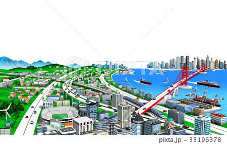 海辺の町と交通白バック2 33196378