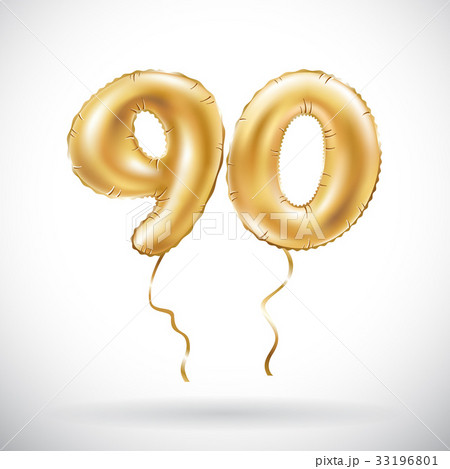 vector Golden number 90 ninety metallic balloonのイラスト素材 [33196801] - PIXTA