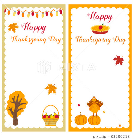 set of thanksgiving templates perfect forのイラスト素材 33200218